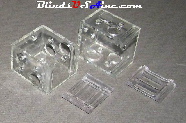 Mini Blind Box End Brackets  ( CLEAR )