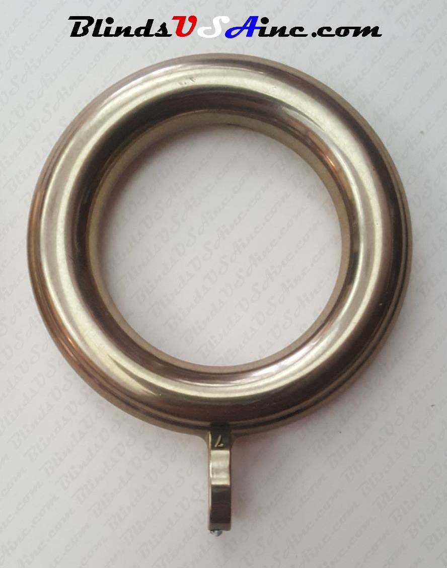 "Kirsch 1-3/8"" Cafe Rings with Eyelet, Finish: Antique Gold, pack of 6, Part # 27010-062"