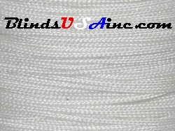 .9 millimeter cord, poly shade cord, color white