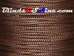 1.8 millimeter cord, poly shade cord, color brown