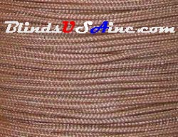 1.8 millimeter cord, poly shade cord, color light brown