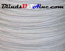 1.8 millimeter cord, poly shade cord, color white