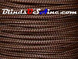 2.2 millimeter cord, poly shade cord, color brown