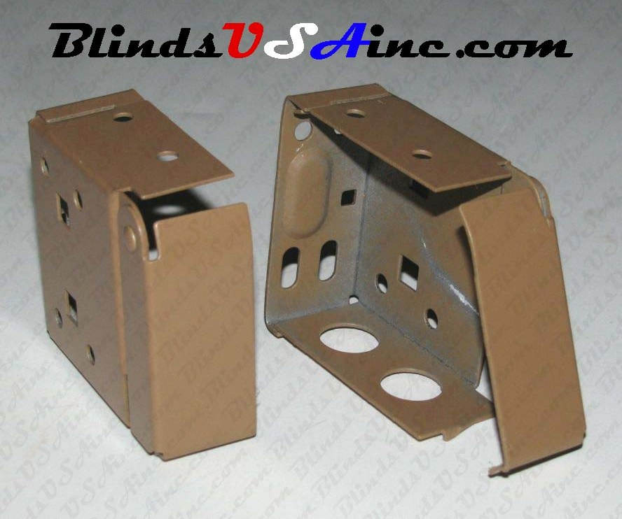 Horizontal Blind Mounting Bracket color brown