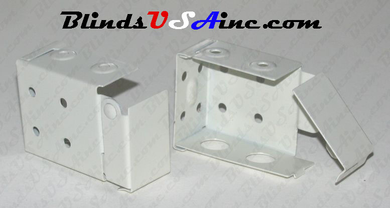 Horizontal blind box end brackets, Low Profile, color is off white