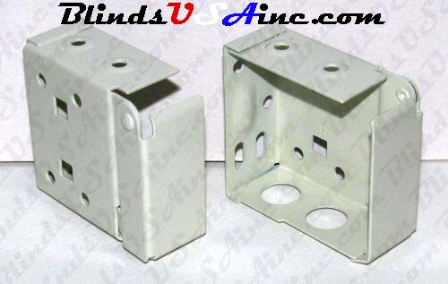 Horizontal blind box end brackets, High Profile, color is alabaster