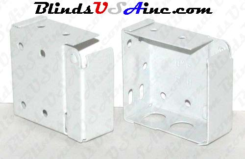 Horizontal blind box end brackets, High Profile, color is white