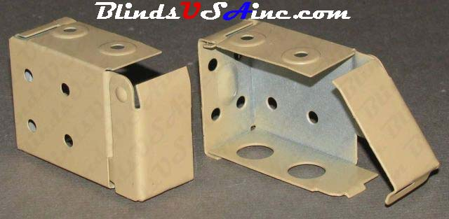 Horizontal blind box end brackets, Low Profile, color is camel