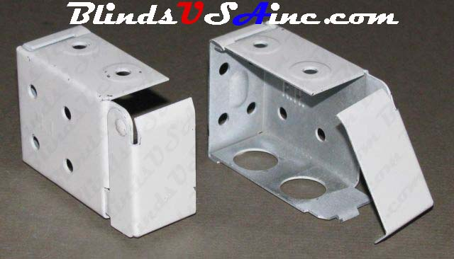Horizontal blind box end brackets, Low Profile, color is white
