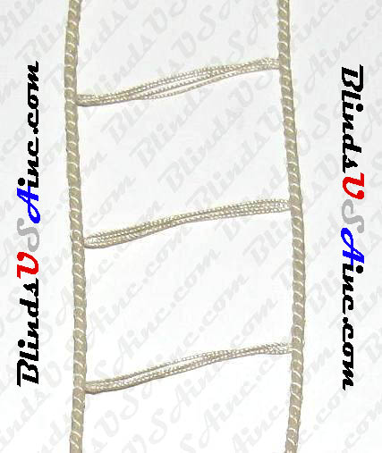 "Mini Blind Ladder Cord, Color Biscuit, 1-1/8"" inside width"