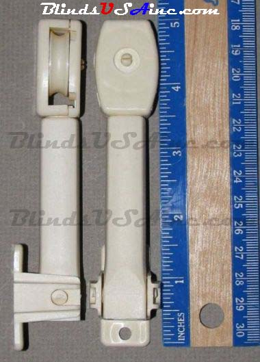 5 inch Tall Spring loaded Tension Pulley, color ivory