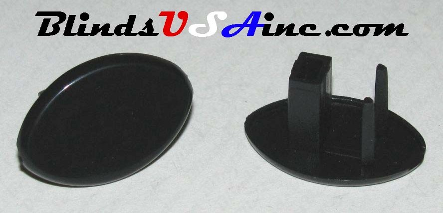 Roller Shade Bottom Rail End Caps - color black