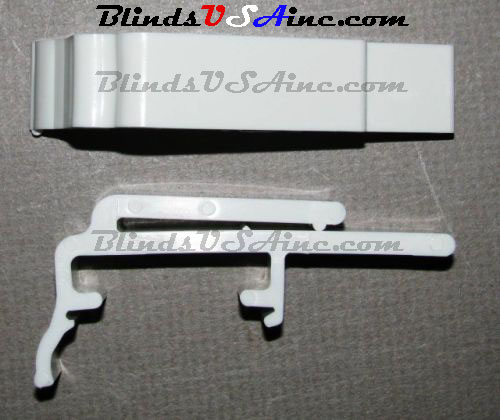 Dust Cover Valance Clip, will fit graber G-lite and other 1-3/8 inch headrails