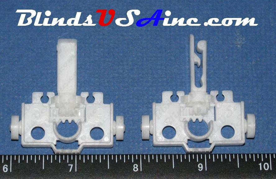 8 Prong Self Aligning Vertical Blind Carriers with white wheel images