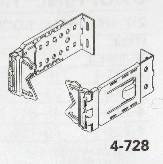 Graber 2-1/2 inch Dauphine Rod Bracket and End Caps, 6-1/4 to 8-1/2 inch Clearance, Item # DPHN-E4-7839, Part # 4-7839-1, 4-728-1