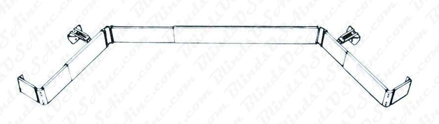 Kirsch 2-1/2 Continental II Bay Window Rod Set, 3-1/2 to 5 inch Clearance, Item # CONT-Rod-6737
