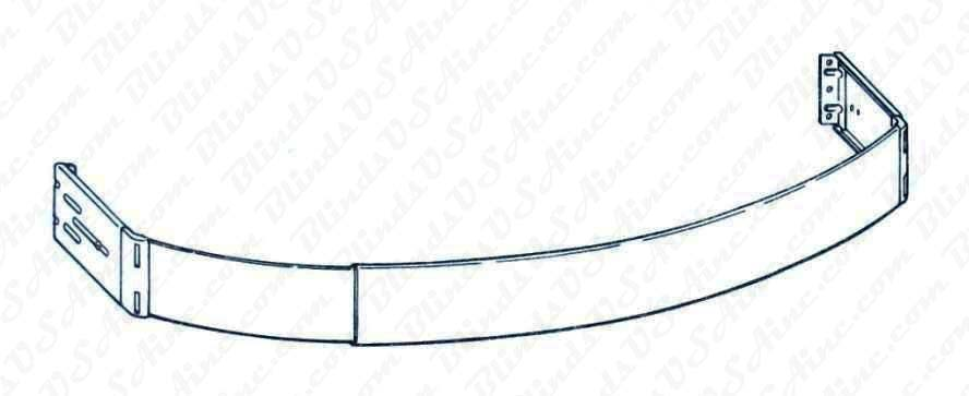 Kirsch 2-1/2 Continental Curved Rod, 3-1/2 - 5 inch Clearance, Item # CONT-Rod-6783