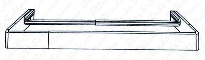 Kirsch 2-1/2 Continental rod and plain rod combo, Item # CONT-Rod-680