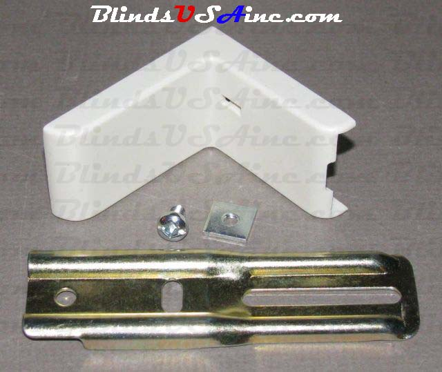 "Kirsch Decorative Rod 2"" Bracket Extender & Support Cover, Item # DRP-DEC1KAP2, Plate Finish: Brass, Cover Finish: Off White"
