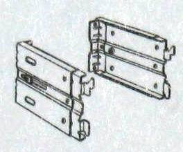 Kirsch Continental 4-1/2 Rod Wall Mount 2-1/2 to 3-1/2 inch long End Brackets, Item # CONT-E6617, Part # 6617R