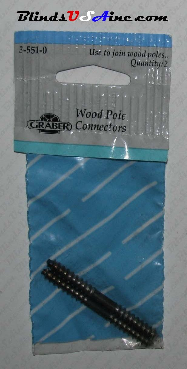 Graber Wood Pole Connectors, package of 2, Part # 3-551-0