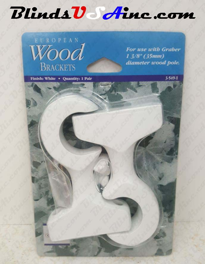 Graber European Wood Brackets, finish white, Part # 3-549-1