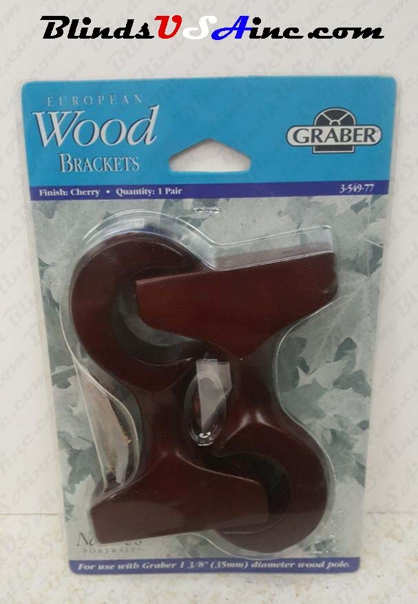 Graber European Wood Brackets,Finish Cherry, Part # 3-549-77