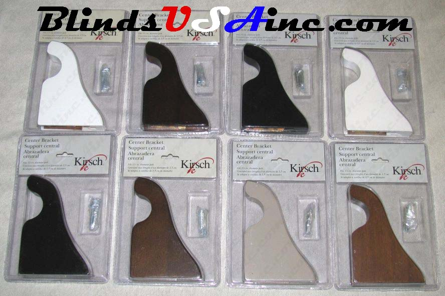 "Kirsch Wood Trends 1-3/8"" Wood Pole Support Brackets, 8 finishes, Part # 5611EG"