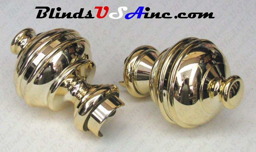 Graber Plug In Finial Windsor, Finish Brass