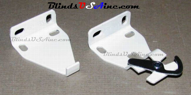 Rollease White Clutch Roller Shade Brackets RC-22