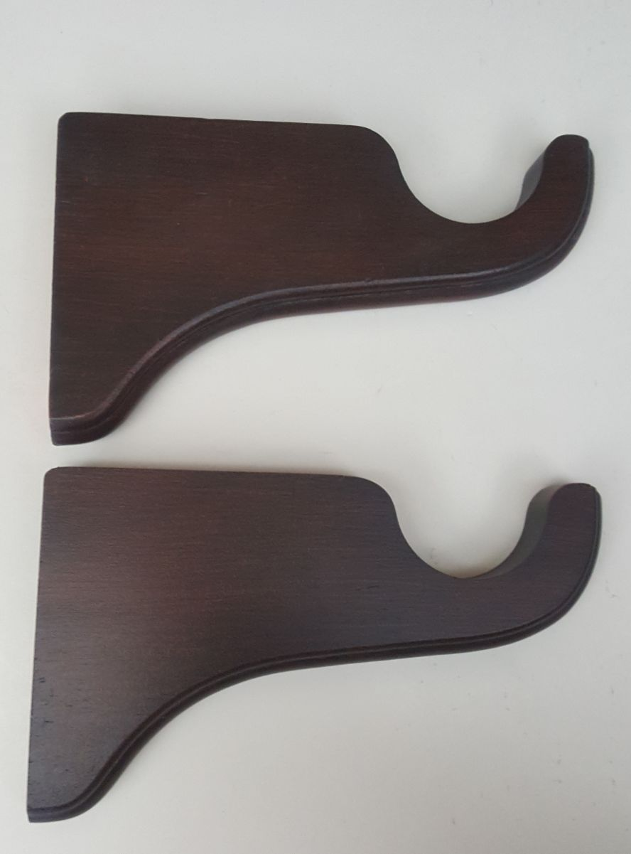 "2"" Wood Pole Support Brackets, finish mahogany"